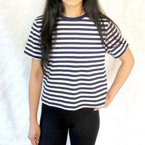 Top Shop stripe tee shirt crop top blouse
